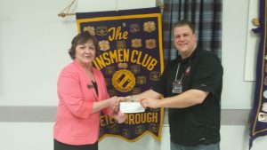 March 16,16 $1,000 donation presented by Kinsmen Pres. JustinLedoux